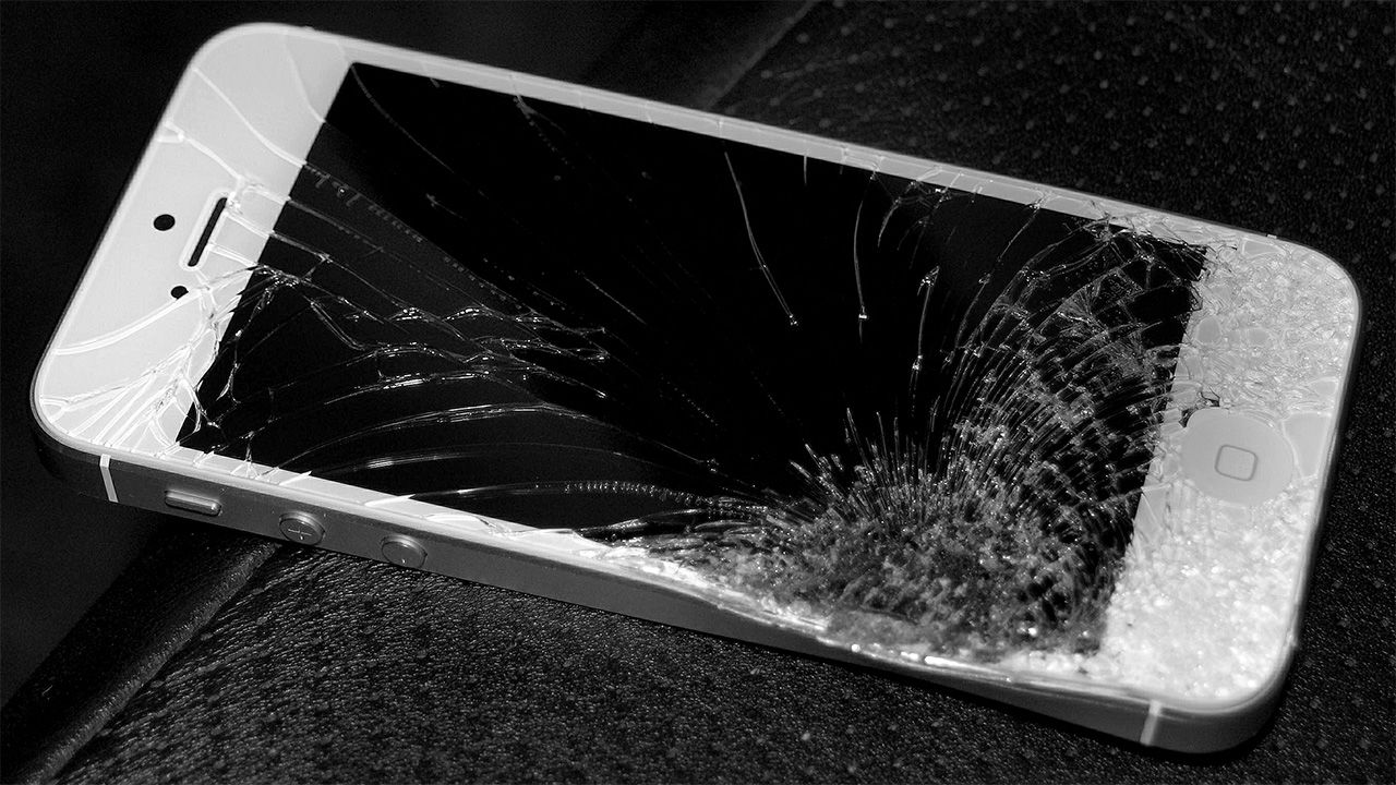 smartphone screen self-healing crack