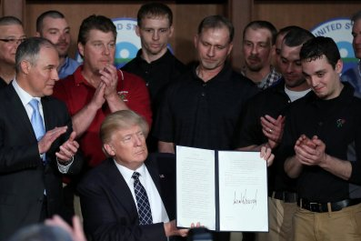 Trump climate signing