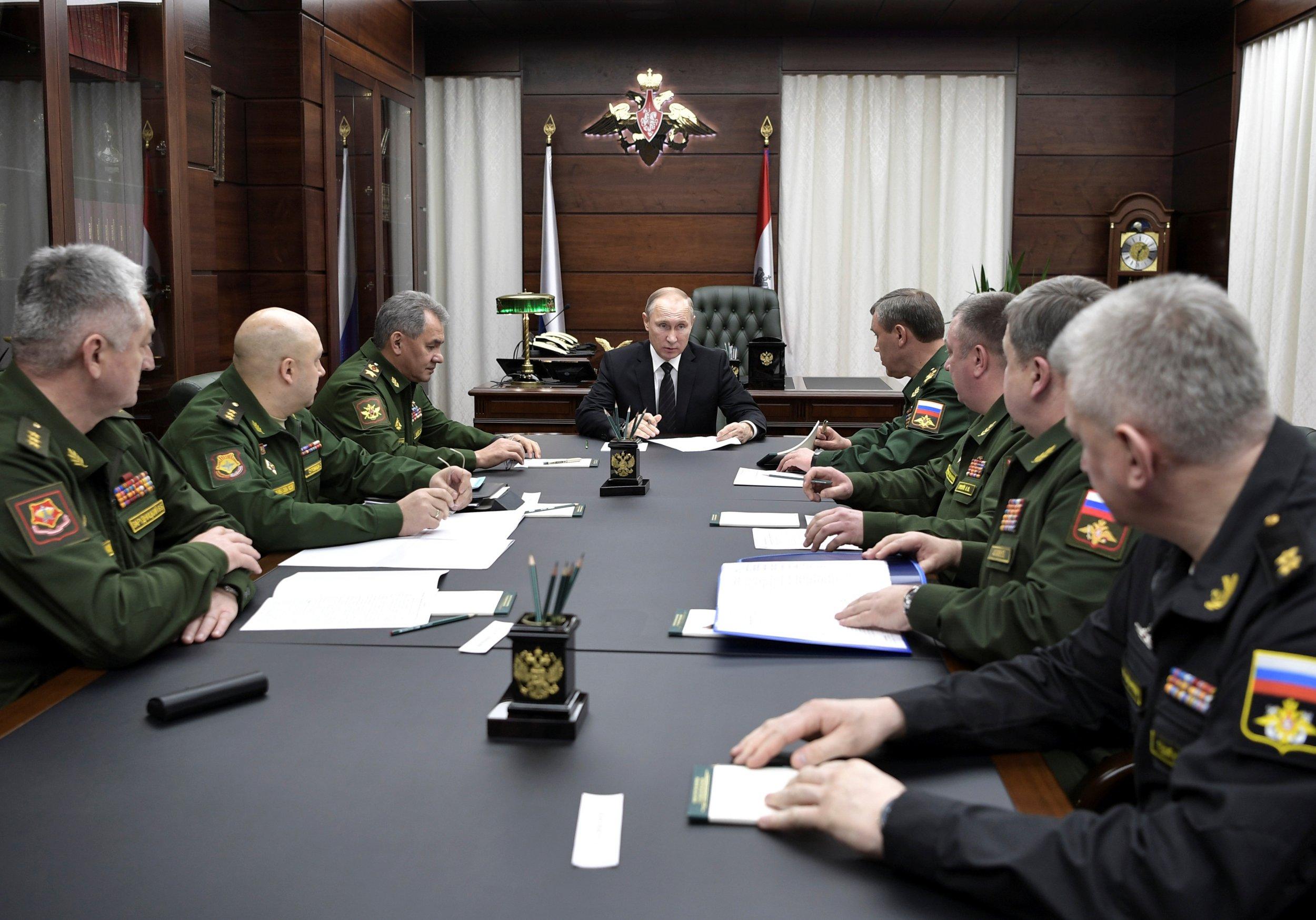 Putin and defense brass