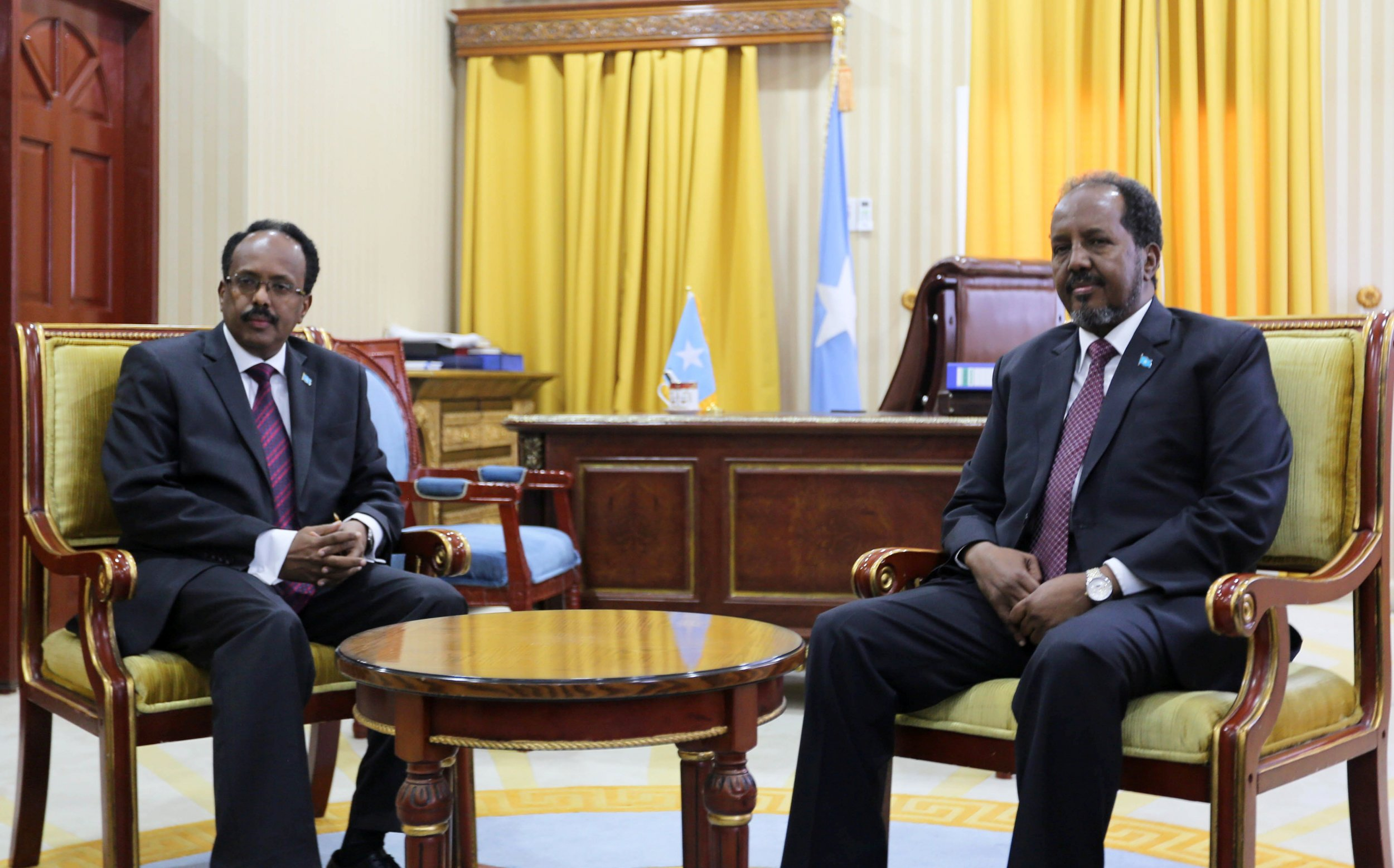 Hassan Sheikh Mohamud and Farmajo