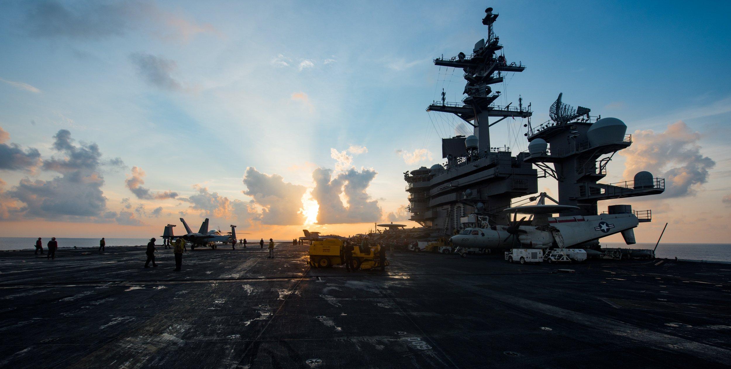 The aircraft carrier USS Carl Vinson