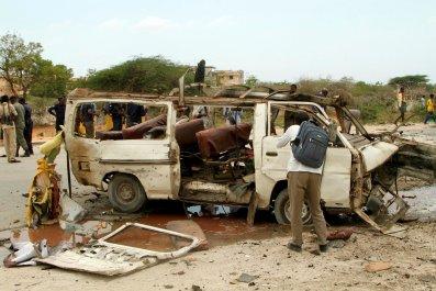 Al-Shabab bombing minibus