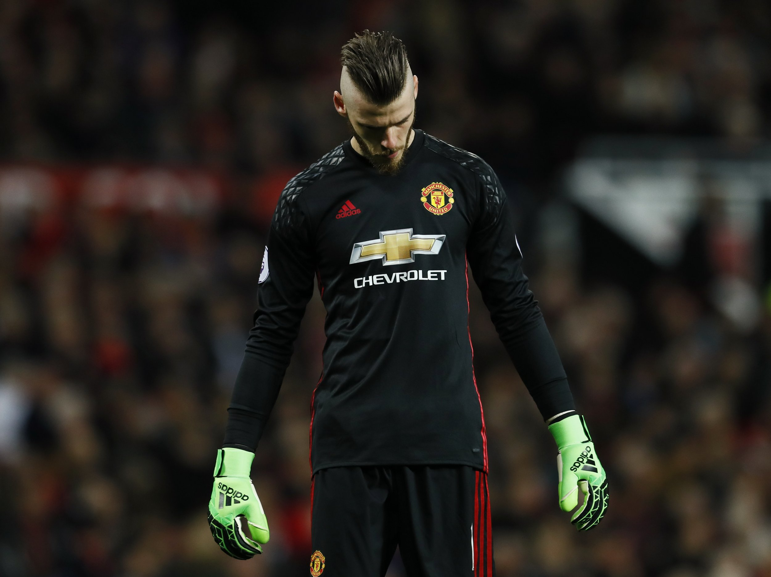 Manchester United goalkeeper David De Gea.