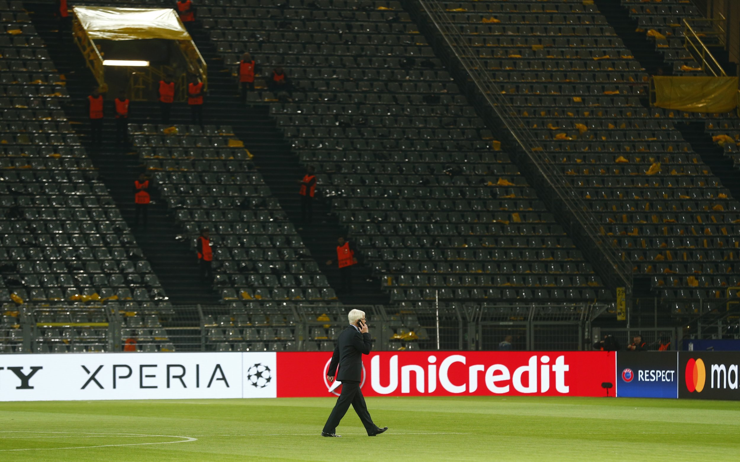 President of Borussia Dortmund Reinhard Rauball on the pitch at Signal Iduna Park, Germany, April 11.