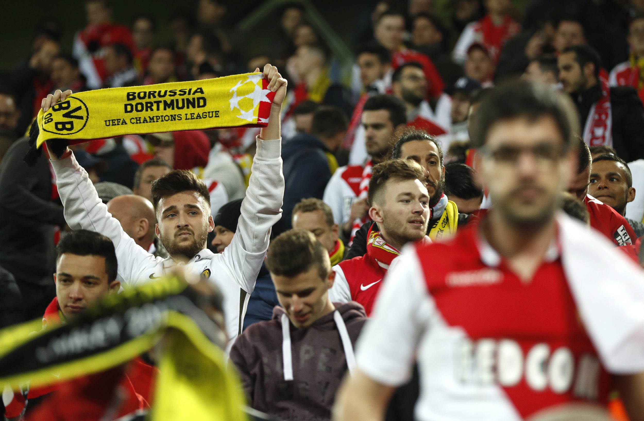 Monaco fans in Dortmund