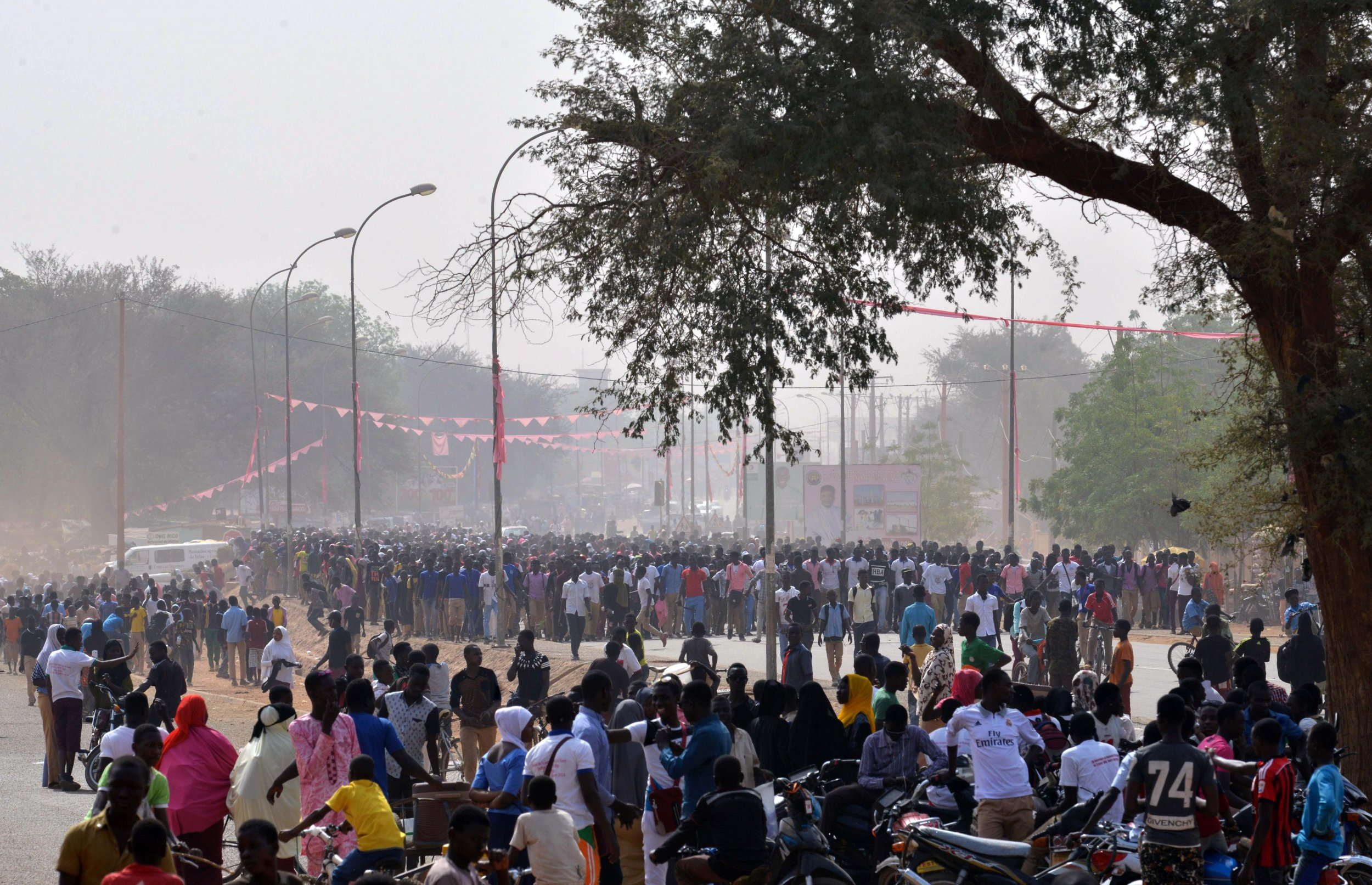 Student protests NIger