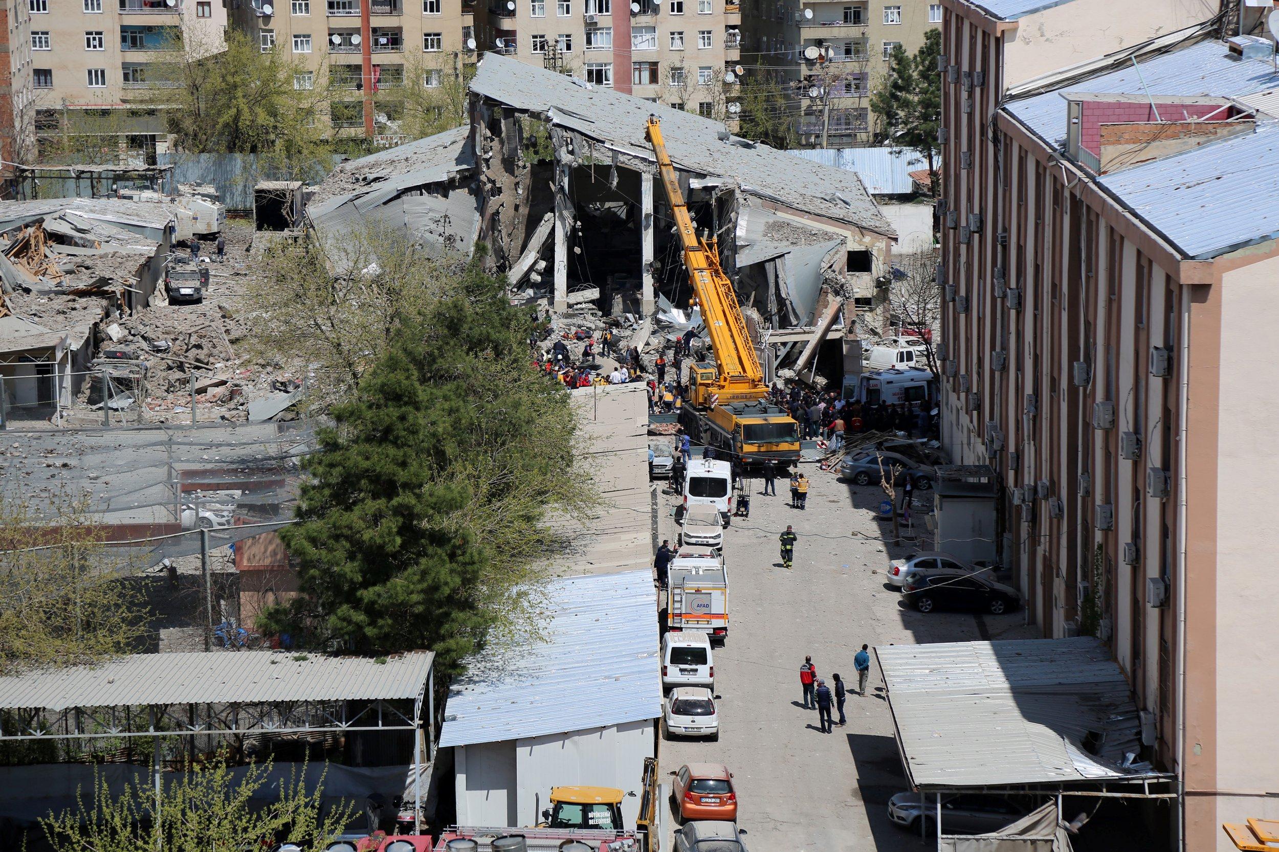 Explosion at Diyarbakir, Turkey