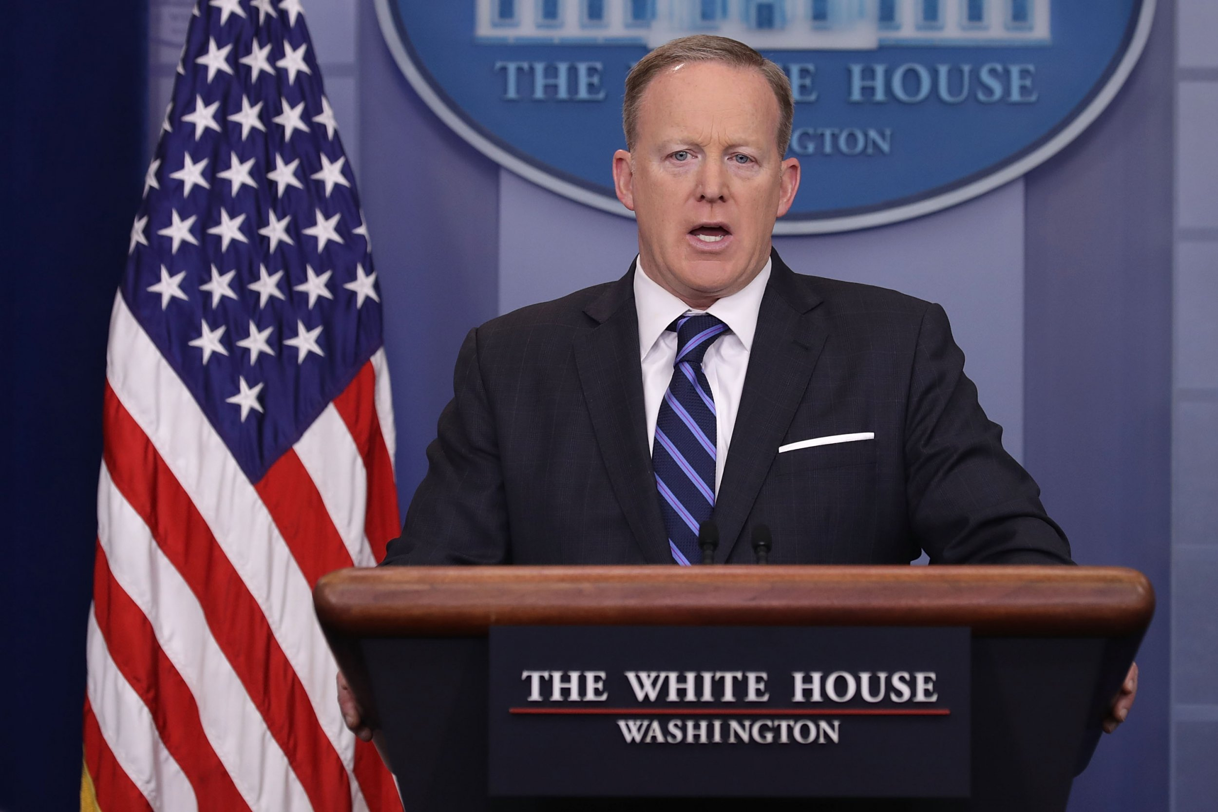 Sean Spicer's White House briefing