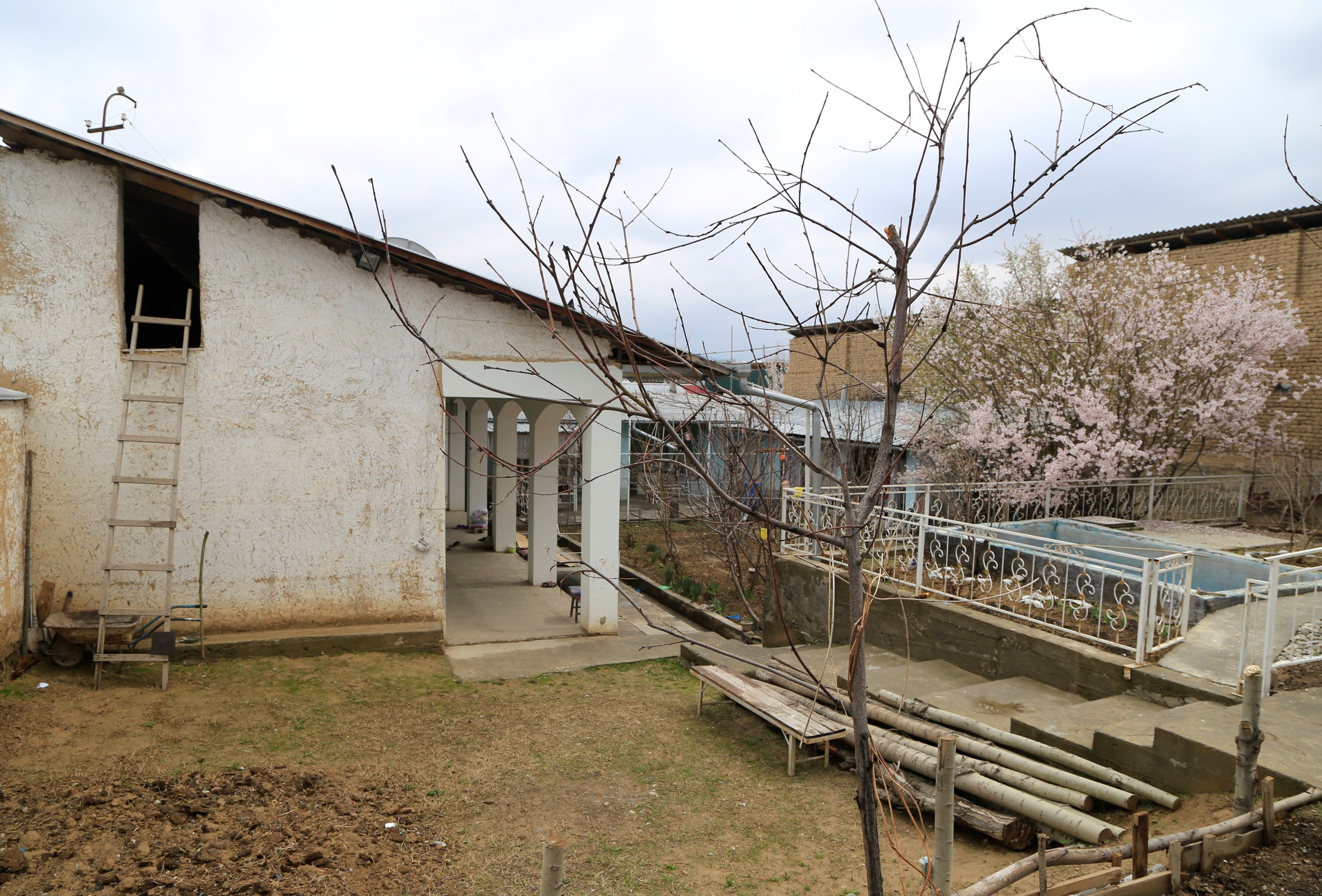 The abandoned house of Akbarzhon Jalilov, Osh, Kyrgyzstan