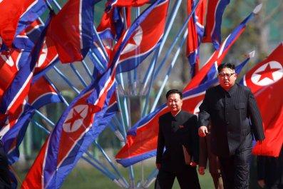 Kim Jong Un arriving