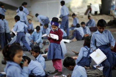 School girl in India book