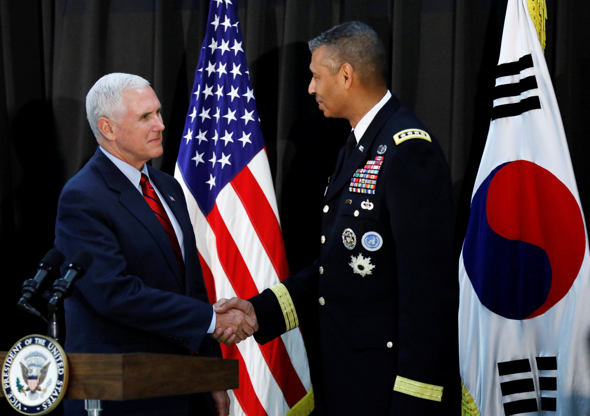 Pence South Korea
