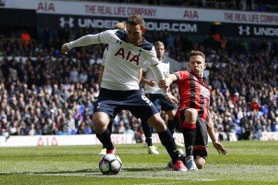 Tottenham Hotspur striker Vincent Janssen.