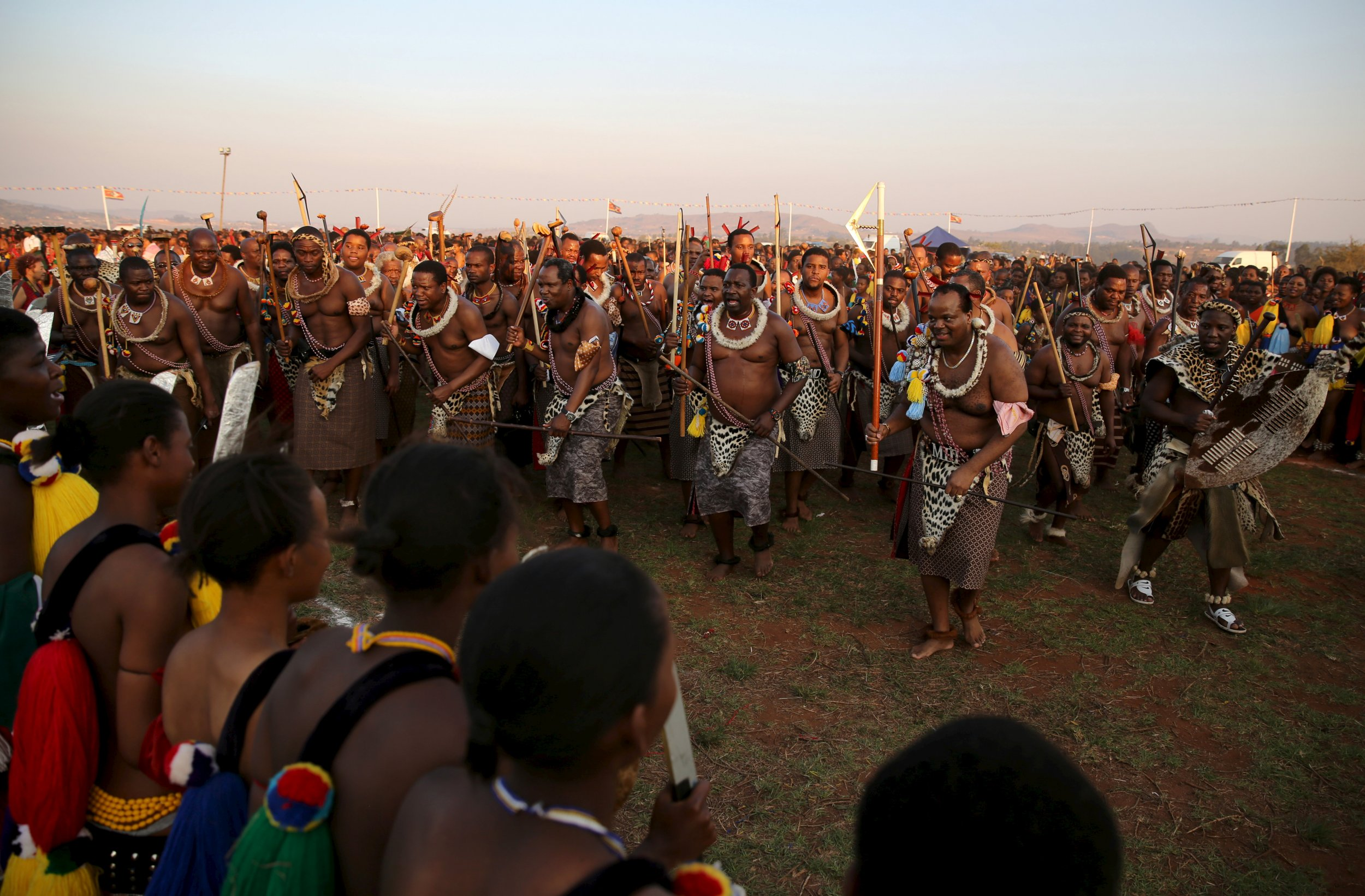 King Mswati III reed dance