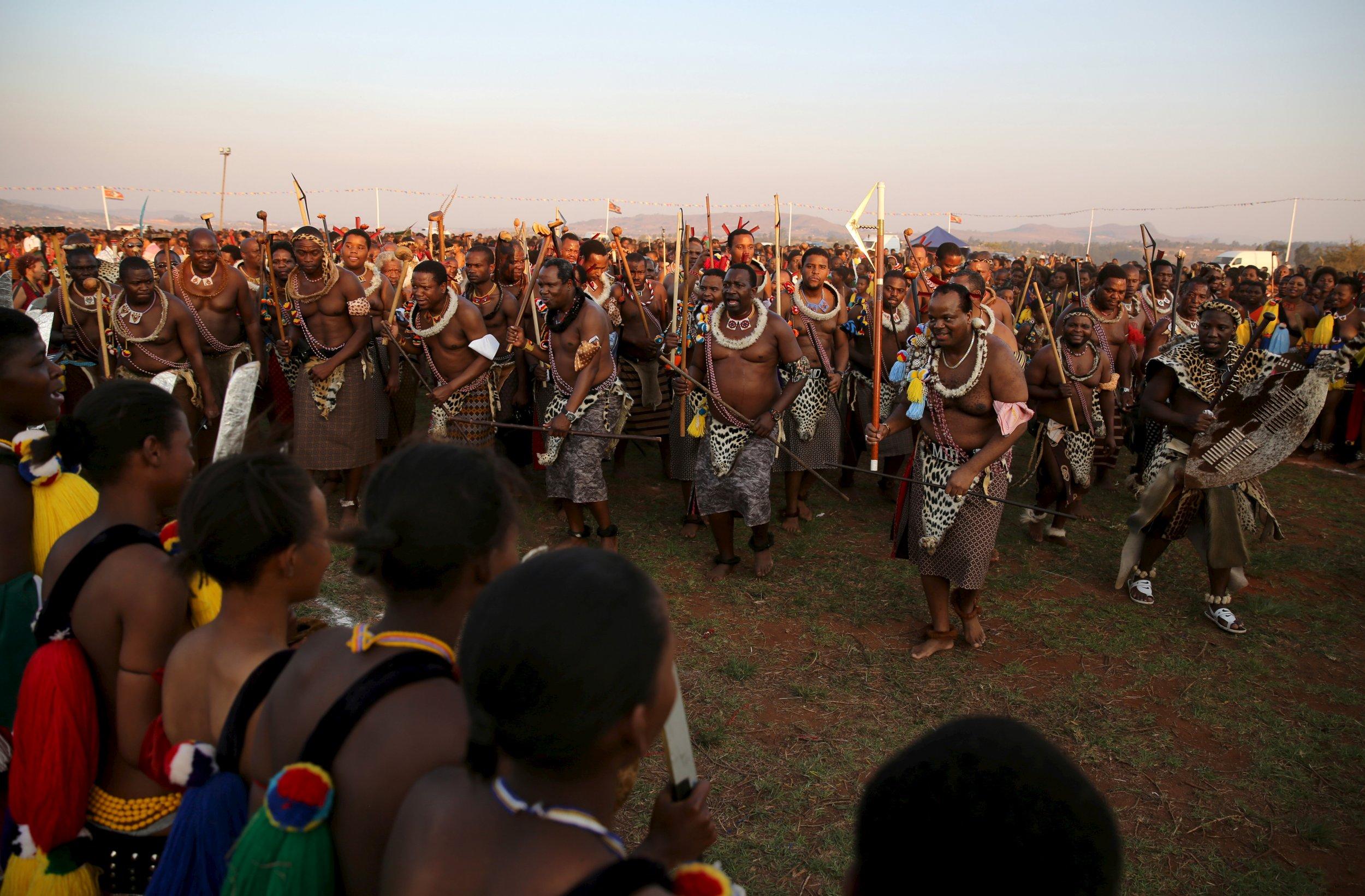King Mswati III reed dance