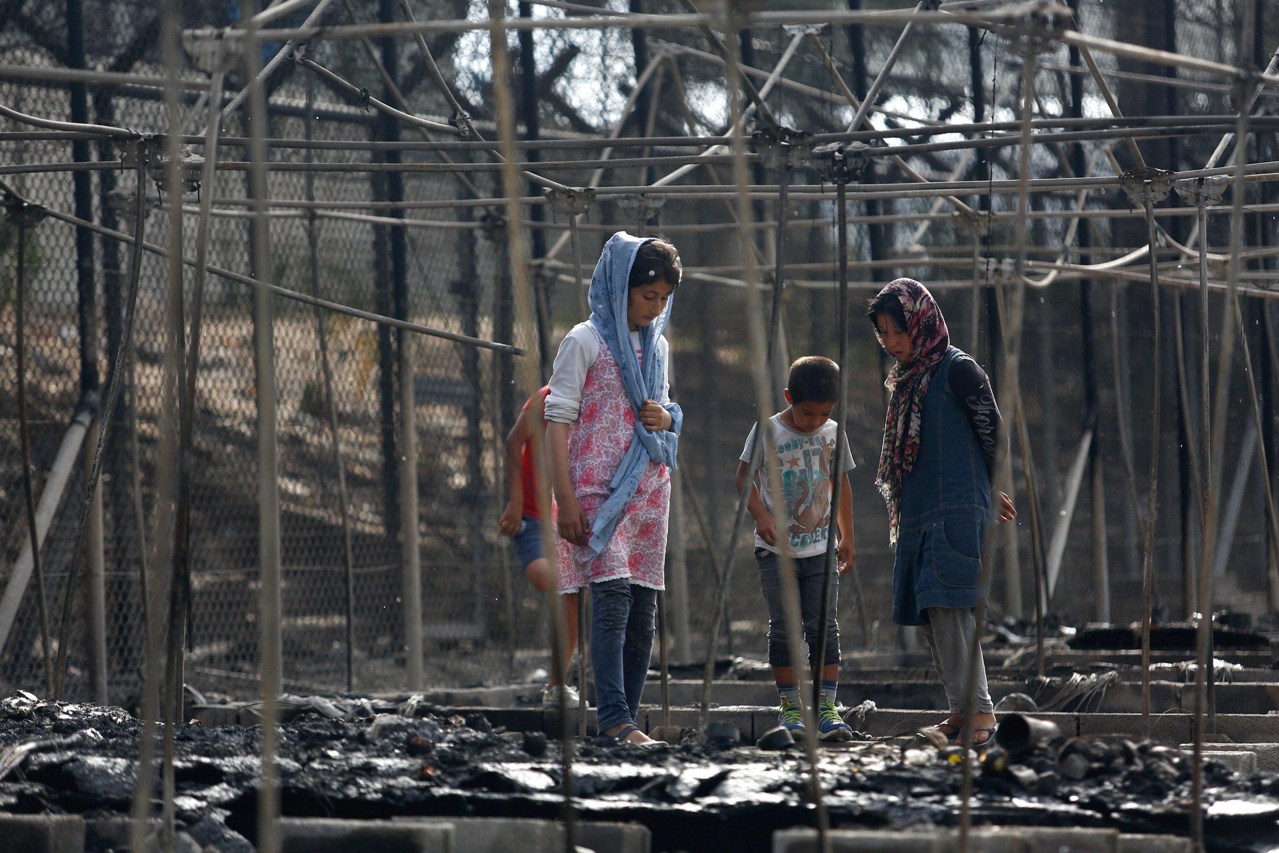 child refugees Lesbos