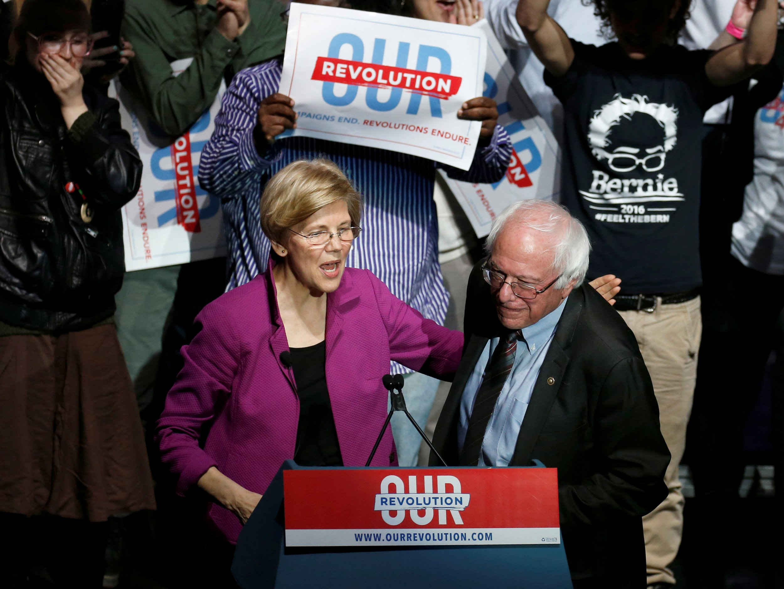 Elizabeth Warren. Bernie Sanders