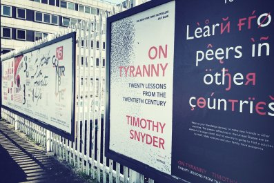 4-19-17 On Tyranny Posters in London