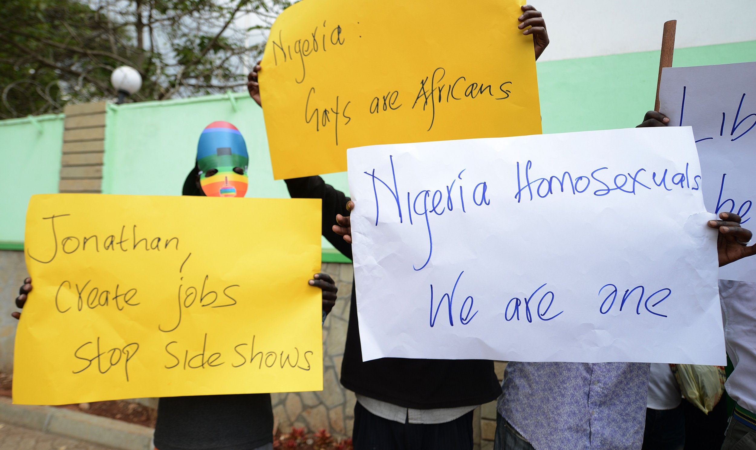 Kenya LGBT protest at Nigerian High Commission