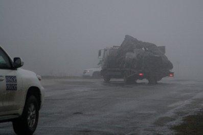 OSCE vehicle, Luhansk, Ukraine
