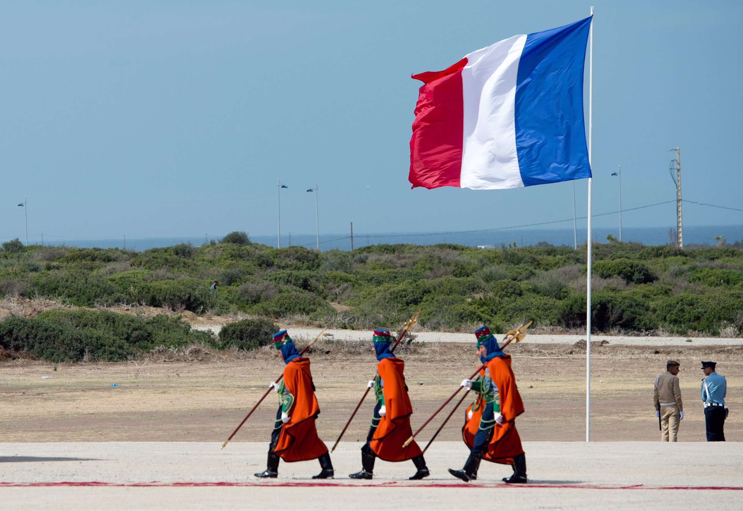 French flag Morocco