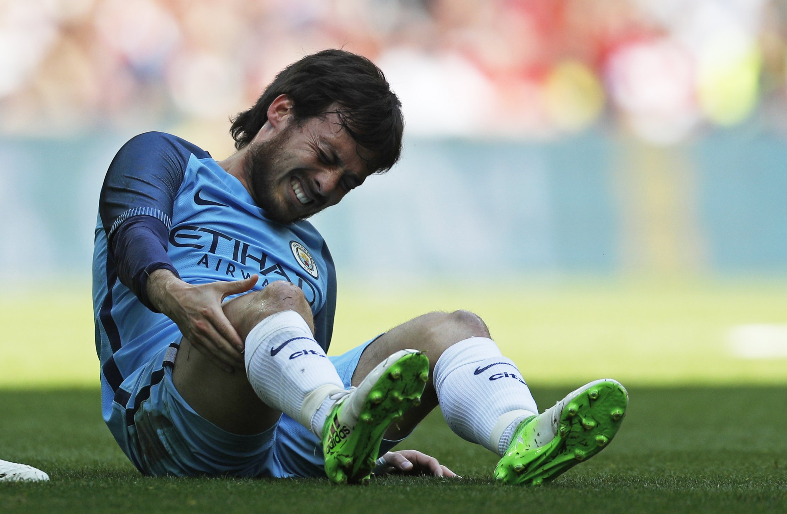 Manchester City's David Silva at Wembley Stadium, north London, April 23.