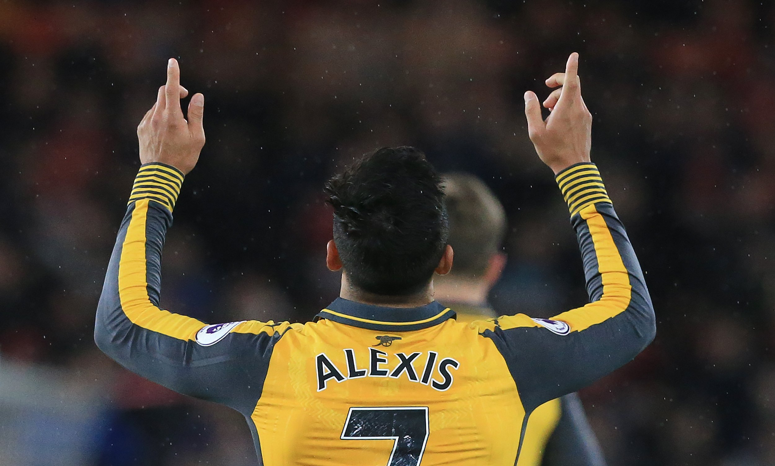 Arsenal striker Alexis Sanchez.