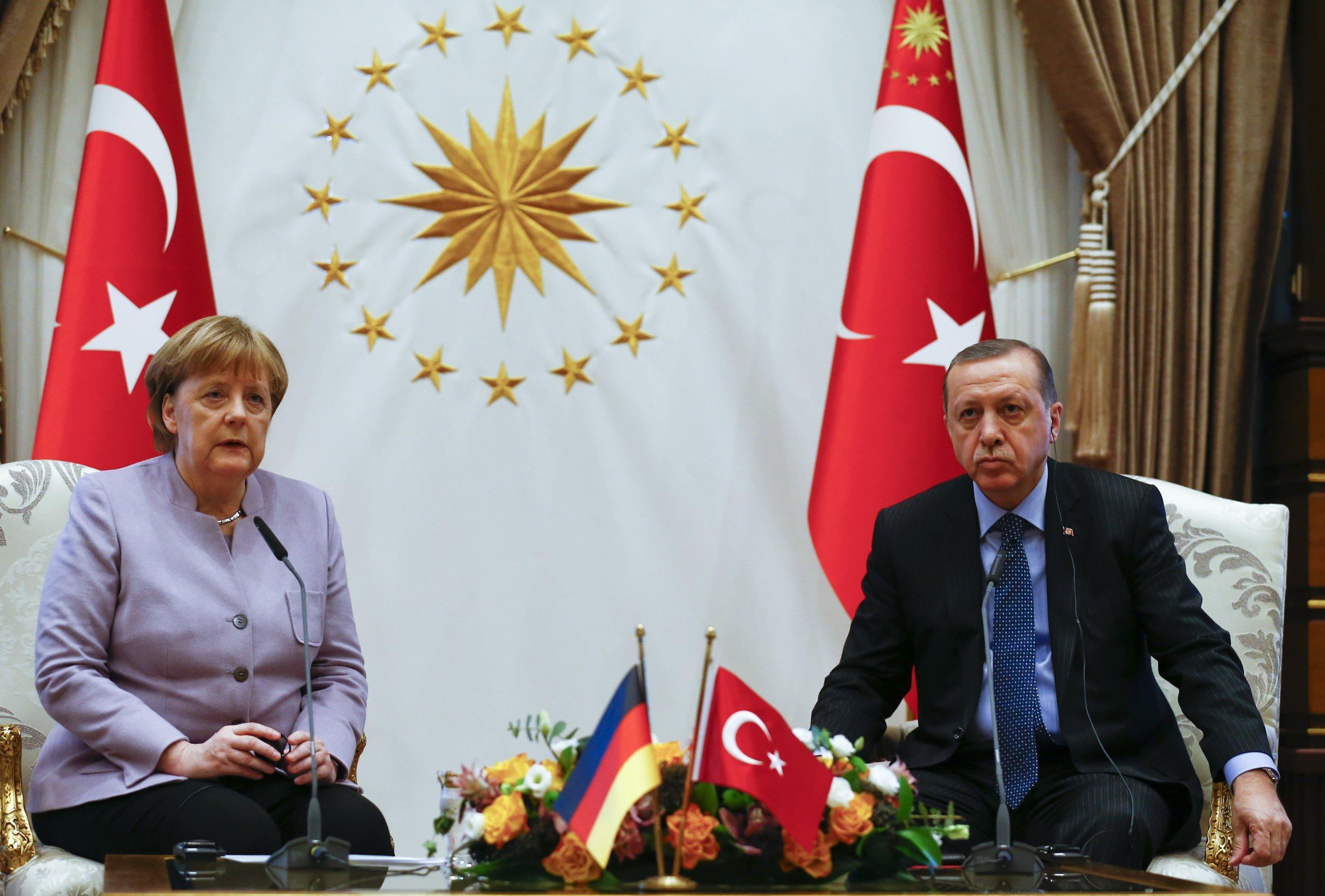 Angela Merkel President Recep Tayyip Erdogan