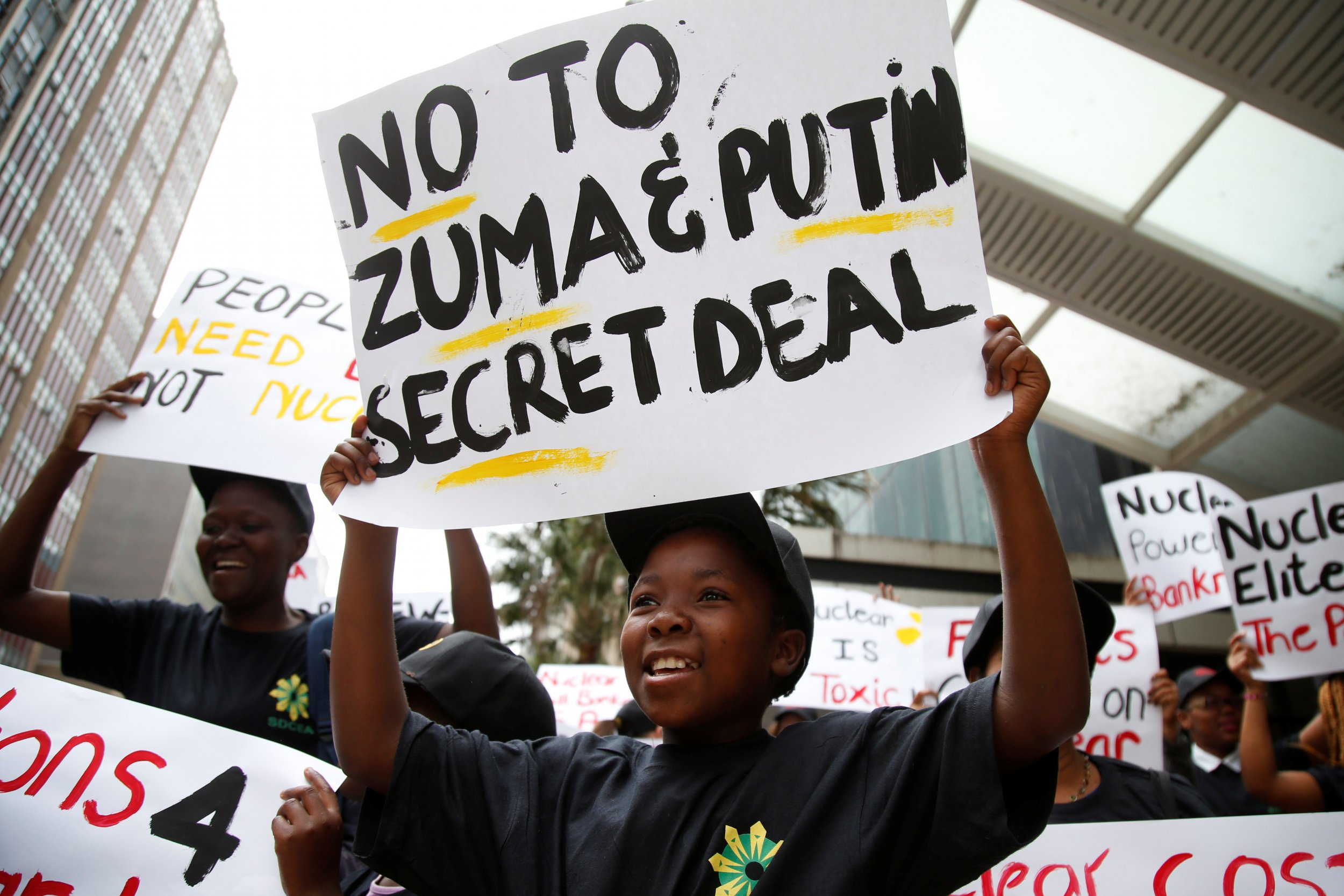 South Africa nuclear protest