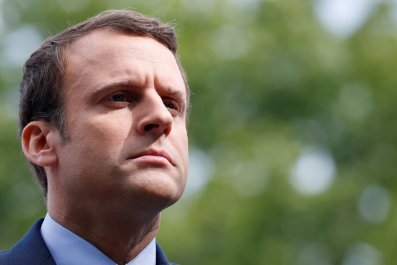 French Presidential candidate Emmanuel Macron.