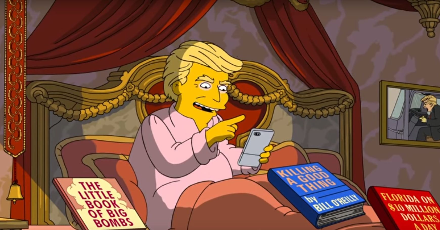 Trump's first 100 days in The Simpsons