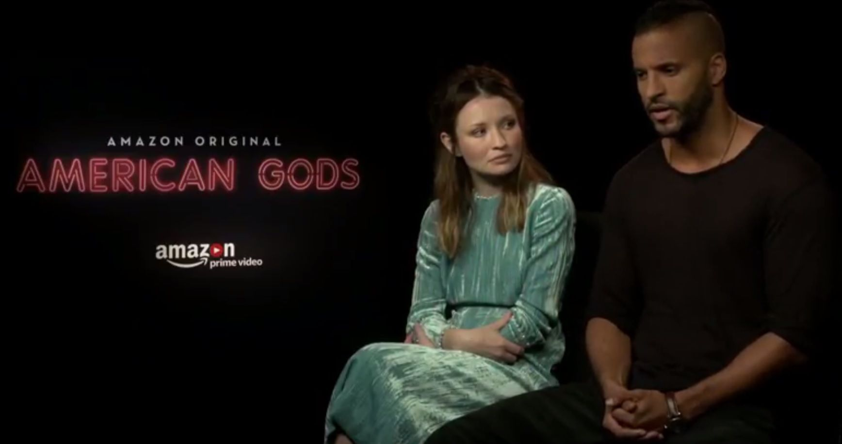 American Gods stars Ricky Whittle and Emily Browning