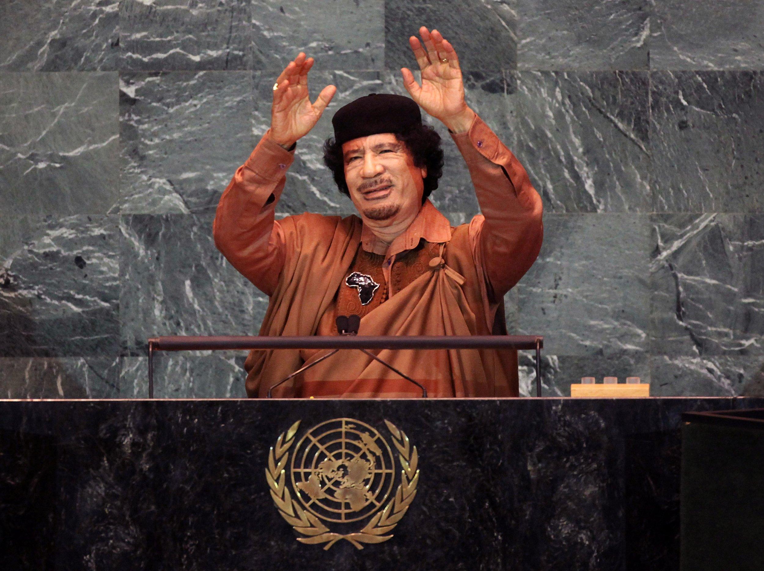Qaddafi at U.N.