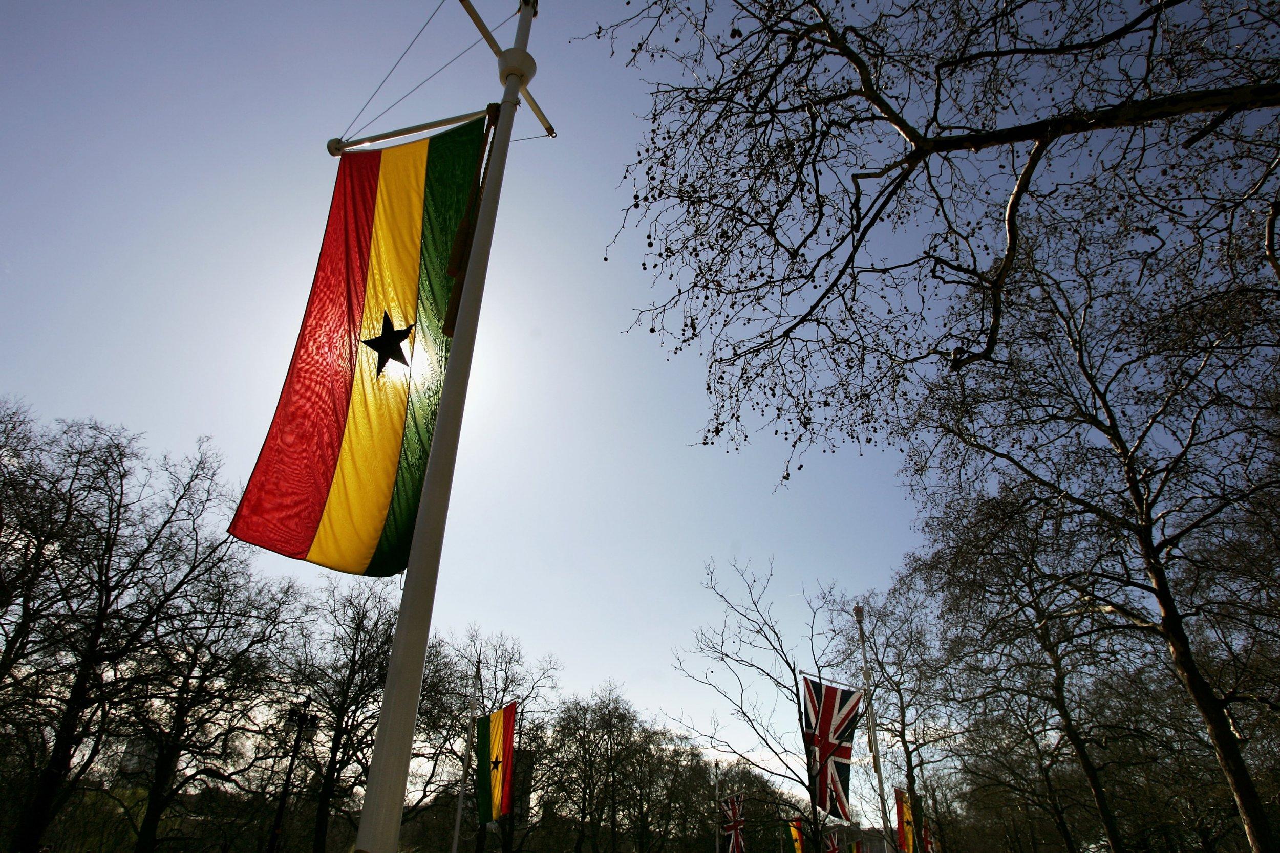 Ghana U.K. flags