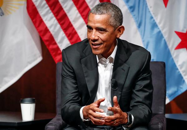 President Obama Speaking at the University of Chicago on April 24.