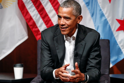 President Obama Speaking at the University of Chicago on April 24.