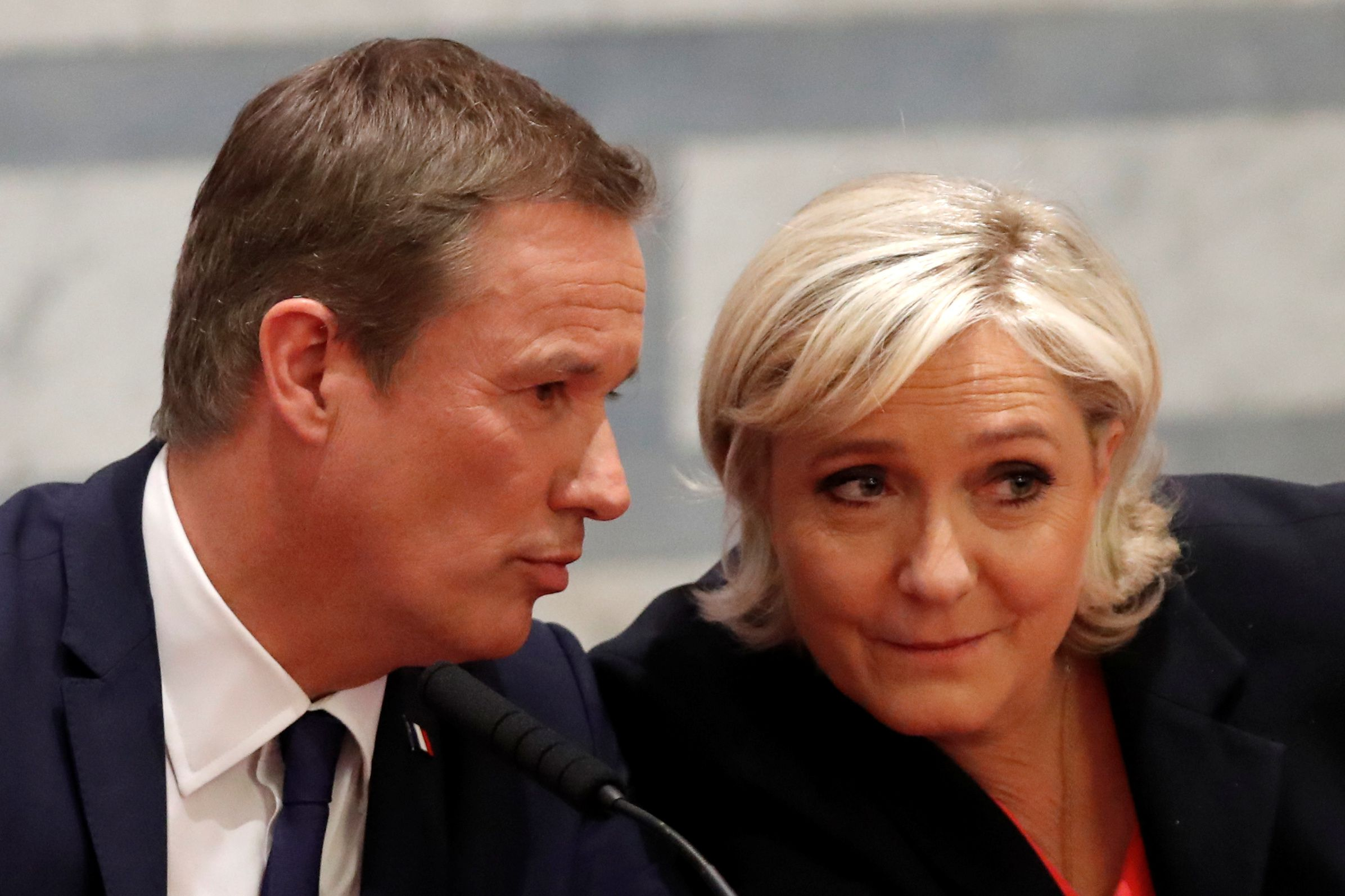 Dupont Aignan and Le Pen