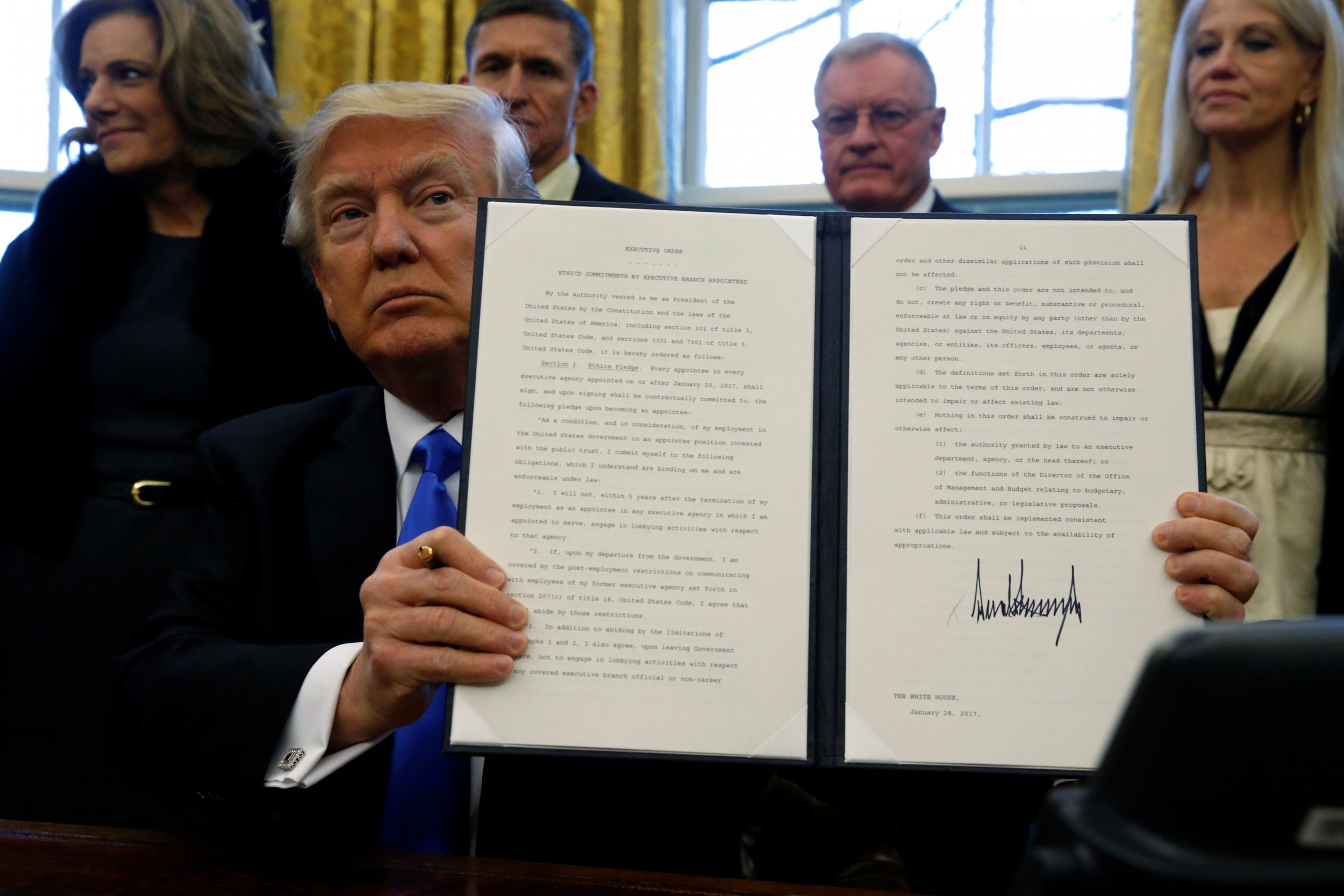 Trump holds an executive order