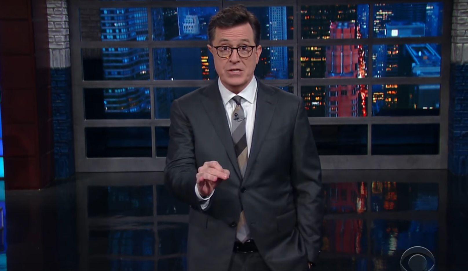 Stephen Colbert talks #FireColbert