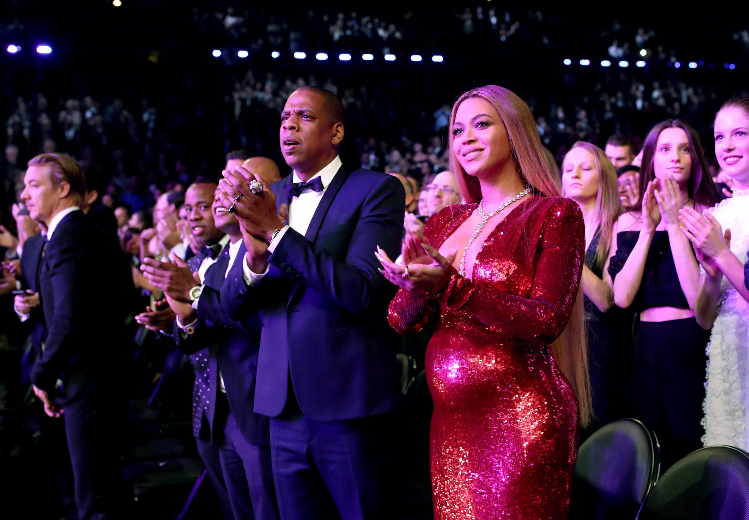 Beyonce at the Grammys with Jay Z