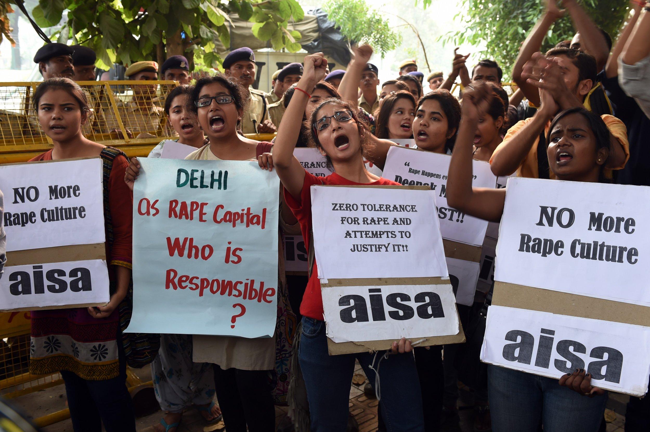 Rape protest Delhi