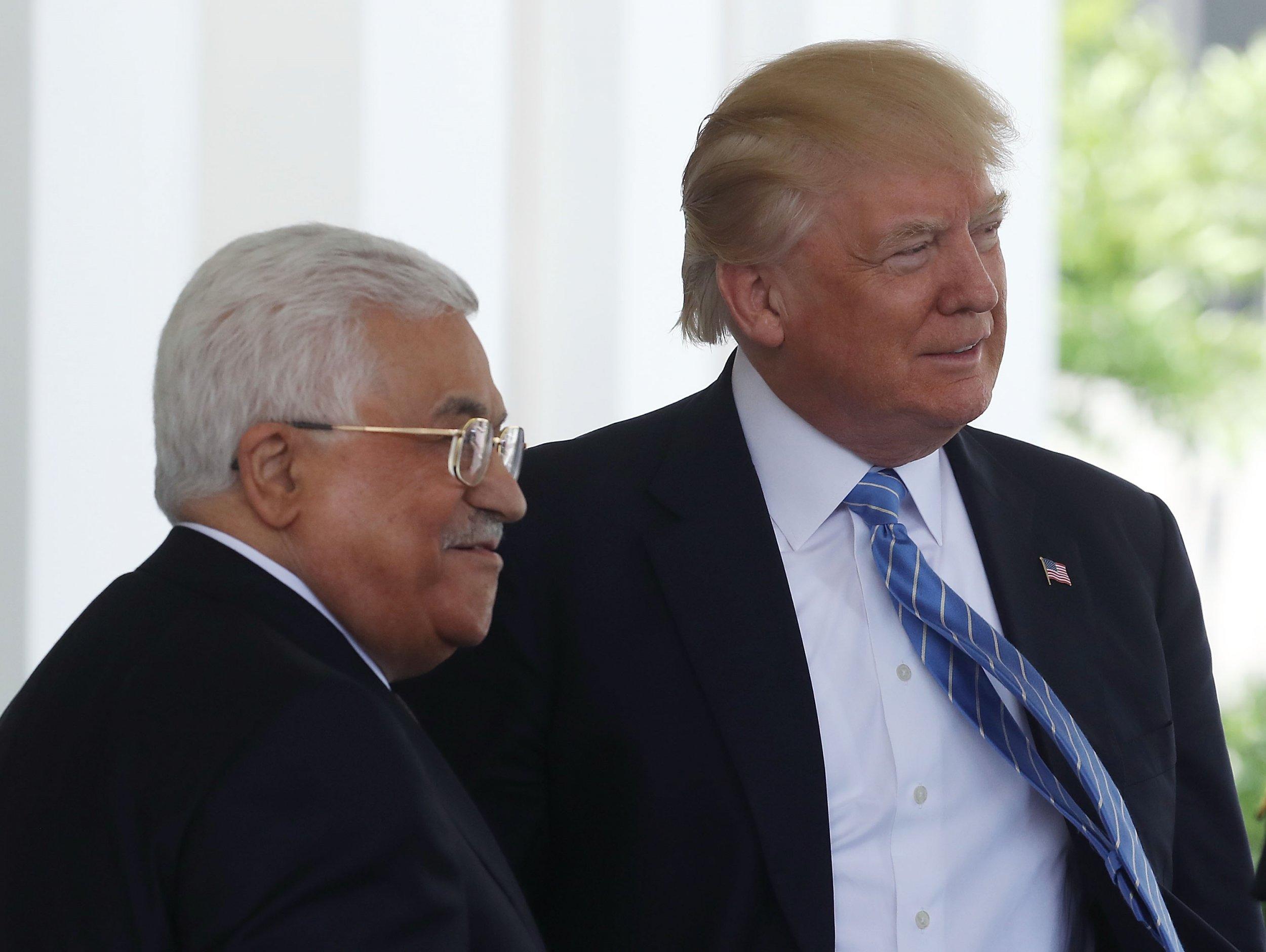 Mahmoud Abbas and Donald Trump