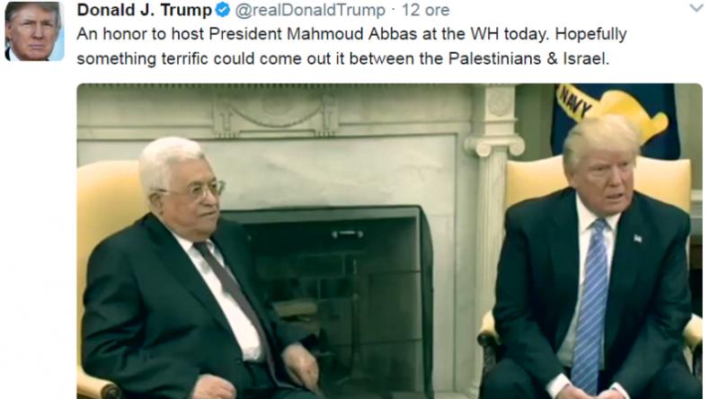 Trump's tweet about Abbas