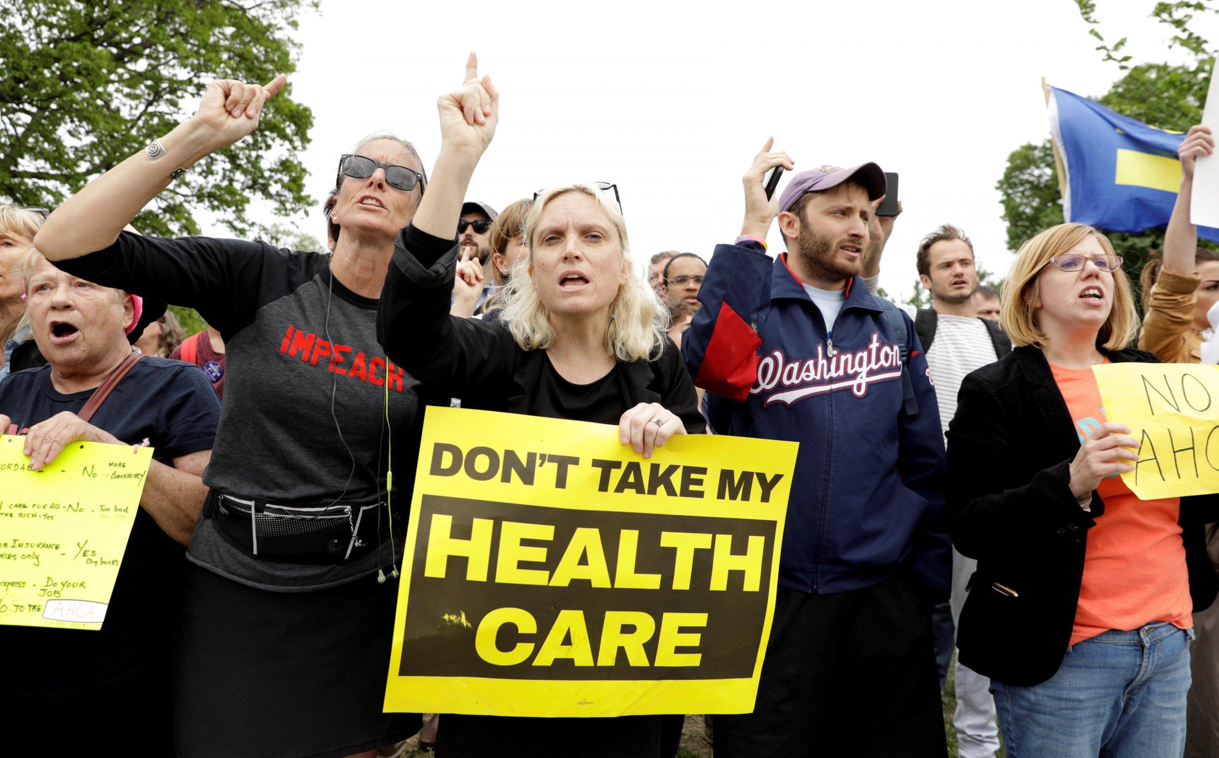 healthcare bill protests