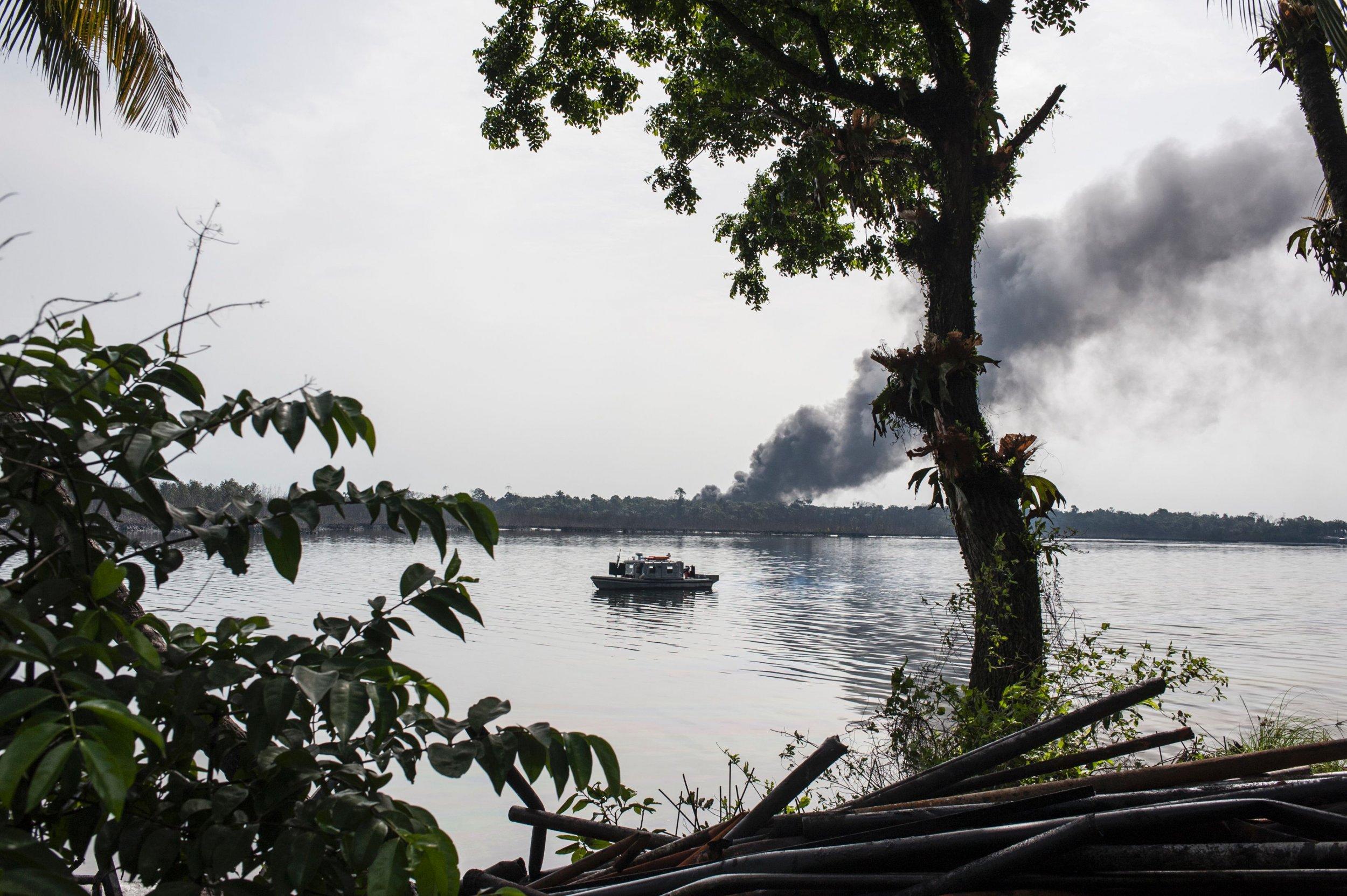 Niger Delta illegal refinery