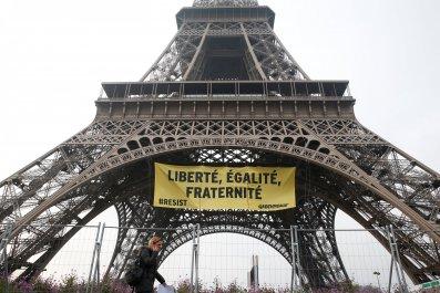 Le Pen protest