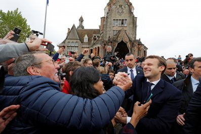 Emmanuel Macron during French presidential elections, France
