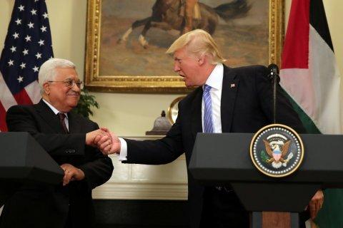 Donald Trump Mahmoud Abbas