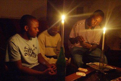 Zimbabwe family candelight