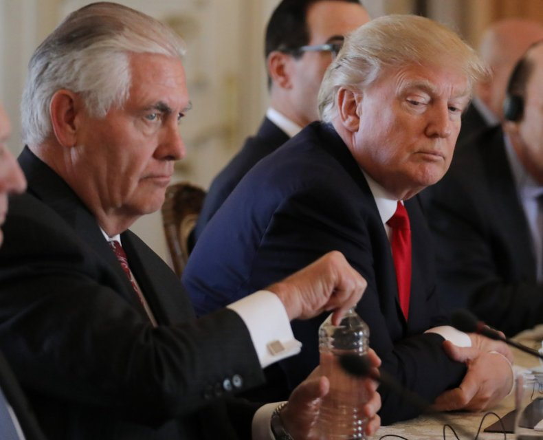 President Donald Trump and Secretary of State Rex Tillerson